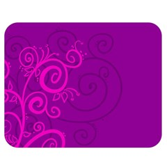 Floraly Swirlish Purple Color Double Sided Flano Blanket (medium)
