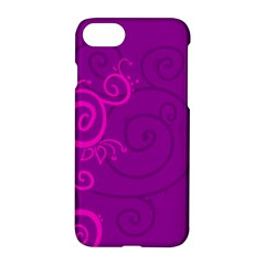 Floraly Swirlish Purple Color Apple Iphone 8 Hardshell Case by Jojostore