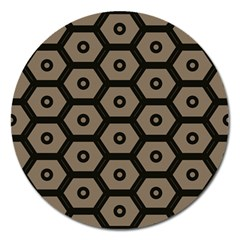 Black Bee Hive Texture Magnet 5  (round)