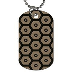 Black Bee Hive Texture Dog Tag (two Sides)