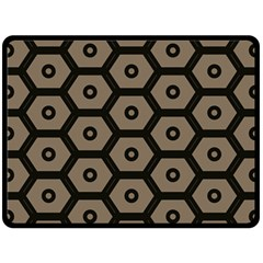 Black Bee Hive Texture Double Sided Fleece Blanket (large)