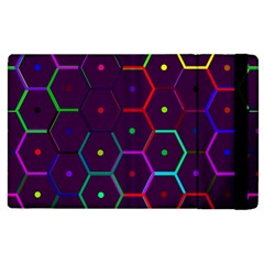 Color Bee Hive Pattern Apple Ipad 2 Flip Case