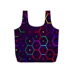Color Bee Hive Pattern Full Print Recycle Bag (s)