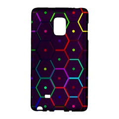 Color Bee Hive Pattern Samsung Galaxy Note Edge Hardshell Case by Jojostore