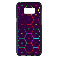 Color Bee Hive Pattern Samsung Galaxy S8 Plus Black Seamless Case