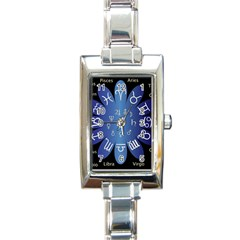 Astrology Birth Signs Chart Rectangle Italian Charm Watch by Jojostore