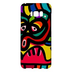 A Seamless Crazy Face Doodle Pattern Samsung Galaxy S8 Plus Hardshell Case