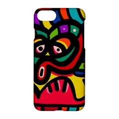 A Seamless Crazy Face Doodle Pattern Apple Iphone 8 Hardshell Case