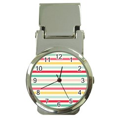 Papel De Envolver Hooray Circus Stripe Red Pink Dot Money Clip Watches