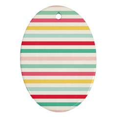 Papel De Envolver Hooray Circus Stripe Red Pink Dot Oval Ornament (two Sides) by Jojostore