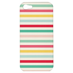Papel De Envolver Hooray Circus Stripe Red Pink Dot Apple Iphone 5 Hardshell Case by Jojostore