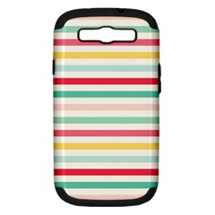 Papel De Envolver Hooray Circus Stripe Red Pink Dot Samsung Galaxy S Iii Hardshell Case (pc+silicone)