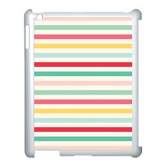 Papel De Envolver Hooray Circus Stripe Red Pink Dot Apple Ipad 3/4 Case (white) by Jojostore