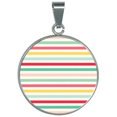 Papel De Envolver Hooray Circus Stripe Red Pink Dot 30mm Round Necklace