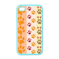 Paw Print Paw Prints Fun Background Apple Iphone 4 Case (color)