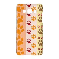 Paw Print Paw Prints Fun Background Samsung Galaxy A5 Hardshell Case