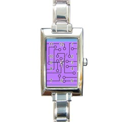 Peripherals Rectangle Italian Charm Watch