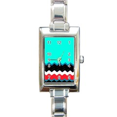 Pattern Digital Painting Lines Art Rectangle Italian Charm Watch by Jojostore