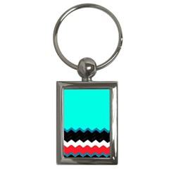 Pattern Digital Painting Lines Art Key Chains (rectangle)