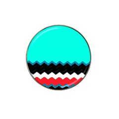 Pattern Digital Painting Lines Art Hat Clip Ball Marker (10 Pack)