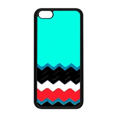 Pattern Digital Painting Lines Art Apple Iphone 5c Seamless Case (black) by Jojostore