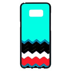 Pattern Digital Painting Lines Art Samsung Galaxy S8 Plus Black Seamless Case