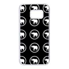 Elephant Wallpaper Pattern Samsung Galaxy S7 White Seamless Case by Jojostore