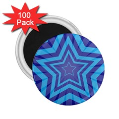 Abstract Starburst Blue Star 2 25  Magnets (100 Pack)