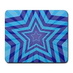 Abstract Starburst Blue Star Large Mousepads