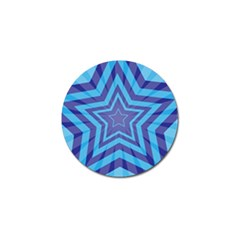 Abstract Starburst Blue Star Golf Ball Marker (10 Pack) by Jojostore