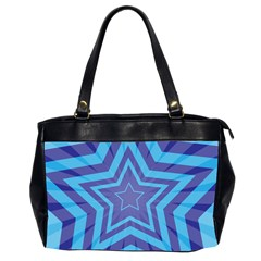 Abstract Starburst Blue Star Oversize Office Handbag (2 Sides)