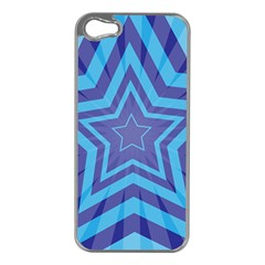 Abstract Starburst Blue Star Apple Iphone 5 Case (silver) by Jojostore