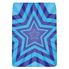 Abstract Starburst Blue Star Removable Flap Cover (l)
