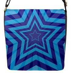 Abstract Starburst Blue Star Flap Closure Messenger Bag (s) by Jojostore