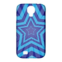Abstract Starburst Blue Star Samsung Galaxy S4 Classic Hardshell Case (pc+silicone)