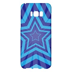 Abstract Starburst Blue Star Samsung Galaxy S8 Plus Hardshell Case