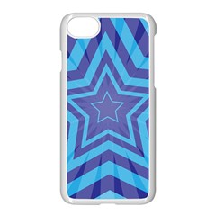 Abstract Starburst Blue Star Apple Iphone 8 Seamless Case (white) by Jojostore