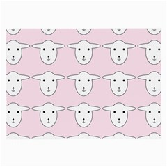 Sheep Wallpaper Pattern Pink Large Glasses Cloth (2 Side)