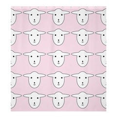 Sheep Wallpaper Pattern Pink Shower Curtain 66  X 72  (large)  by Jojostore