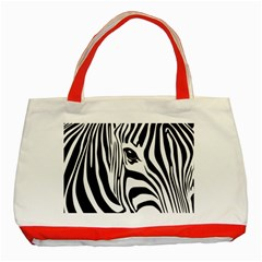 Animal Cute Pattern Art Zebra Classic Tote Bag (red) by Jojostore