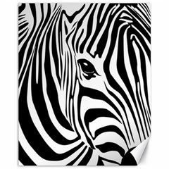 Animal Cute Pattern Art Zebra Canvas 11  X 14