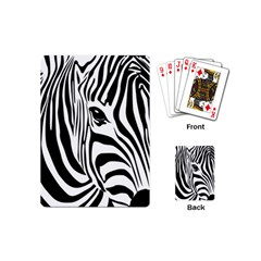 Animal Cute Pattern Art Zebra Playing Cards (mini)