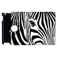 Animal Cute Pattern Art Zebra Apple Ipad 2 Flip 360 Case by Jojostore