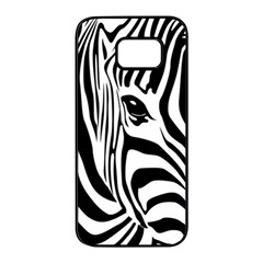 Animal Cute Pattern Art Zebra Samsung Galaxy S7 Edge Black Seamless Case by Jojostore