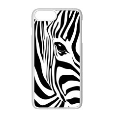 Animal Cute Pattern Art Zebra Apple Iphone 8 Plus Seamless Case (white)