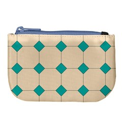 Tile Pattern Wallpaper Background Large Coin Purse by Jojostore