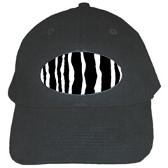 Zebra Background Pattern Black Cap by Jojostore