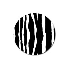 Zebra Background Pattern Magnet 3  (round)