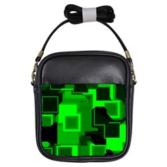 Cyber Glow Girls Sling Bag by Jojostore