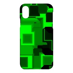 Cyber Glow Apple Iphone X Hardshell Case by Jojostore